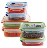 STERILITE CORP. 3018602 Ultra-Latch Containers Set, Multi (12 Pieces)