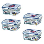 Lock & Lock, No BPA, Water Tight, Food Container, 0.7-cup, 0.6-oz, Pack of 4, HPL805