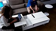Occam Lifting Coffee table with 2 lift tops