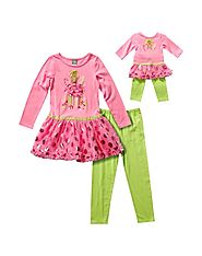 Gingerbread Man Legging Set with Matching Outfit