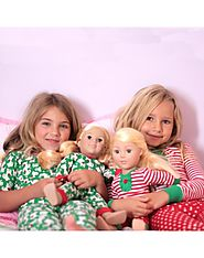 """Christmas Elf"" Snug Fit Pajamas with Matching Outfit for 18 inch Play Doll"