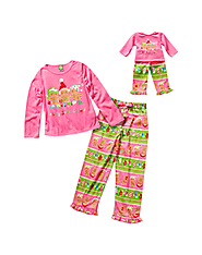 """Holiday Toasty Socks And Hats"" Two Piece Sleepwear Set with Matching Outfit for 18 inch Play Doll"