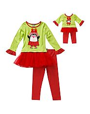 """Skating Penguin"" Legging Set with Matching Outfit for 18 inch Play Doll"