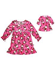 """Santa Goes Wild"" Nightgown Sleepwear with Matching Outfit for 18 inch Play Doll"