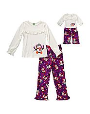 """Penguin Pops"" Two-Piece Pajama Set With Matching Outfit For 18 Inch Play Doll"