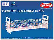 Plastic Test Tube Stand 3 Tier Manufacturers | DESCO India