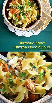 Chicken Noodle Soup In Turmeric Broth