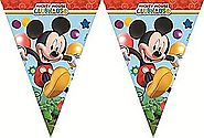 Mickey Mouse Party Flag Banner