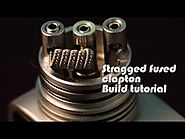 Stragged fused clapton coil build tutorial