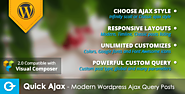Quick Ajax - Modern Wordpress Ajax Query Posts v2.3 - Cheap Wordpress Plugins. Online Cheap Wordpress Plugins & Themes