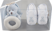 Gift Box with Teddy Bear Booties