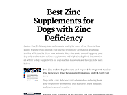 Best Zinc Supplements for Dogs with Zinc Deficiency