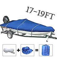 17'-19' Blue Waterproof Pontoon Heavy Duty Boat Cover Trailerable Fishing Ski Covers