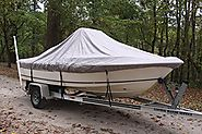 "VORTEX HEAVY DUTY GREY / GRAY CENTER CONSOLE BOAT COVER FOR 17'7"" - 18'6"" BOAT (FAST SHIPPING - 1 TO 4 BUSINESS DAY D..."