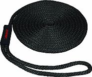 SeaSense Solid Braid MFP Dock Line with Chafe Guard, 1/2-Inch X 15-Foot, Black