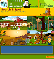 BrainPOP Jr. | Classifying Animals | Game