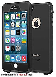 Sunwukin Best Waterproof Case for iPhone 6s/6 Plus 5.5 Inch, [New Arrival] Underwater Shockproof Snowproof Dirtpoof P...