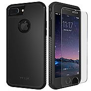 TKKOK iPhone 7 Plus Case, Slim Dual layer Heavy Duty Rugged Scratch-Resistant Shockproof Non-slip Grip Protective Cas...
