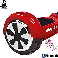 "Self Balancing Scooter (MAX 220 lbs), Skque 6.5"" I1.2 UL2272 Smart Two Wheel Self Balancing Electric Scooter with Blu..."