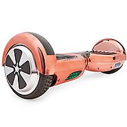 Self Balancing Scooter Hoverboard UL2272 Certified, w/ Bluetooth Speaker and LED Light (Rose Gold)