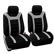 HOLIDAY SALE : FH-FB070102 Pair Set Sports Bucket Seat Covers Airbag Ready Gray / Black - Fit Most Car, Truck, Suv, o...