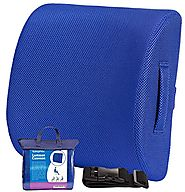 The Lumbar Back Support Cushion, Contoured Memory Foam Pillow For Chair Or Car | Corrects Posture & Eases Lower Back ...