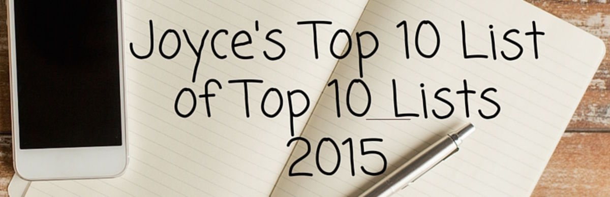 Headline for Joyce's Top 10 (or so) of Top 10 (or so) Lists