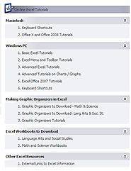 Excel Technology Tutorials at Internet 4 Classrooms