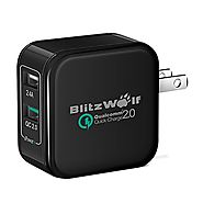 Quick Charge 2.0 Wall Charger,BlitzWolf® QC2.0+2.4A 30W Dual Port USB Charger with Qualcomm Certified for iPhone 6/6S...