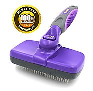 #1 Best Quality Self Cleaning Slicker Brush - Gently Removes Loose Undercoat, Mats and Tangled Hair - Your Dog or Cat...
