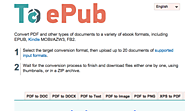 Convert PDF and Other Formats to eBooks