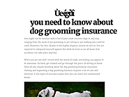 Things you need to know about dog grooming insurance