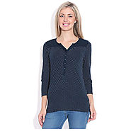 Buy Online Wrangler Blue Top for Womens at Price Rs.1,047