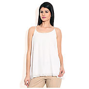 Buy Vero Moda White Polyester Tops at Price Rs.803 Online