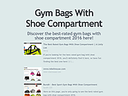 Best Rated Gym Bags With Shoe Compartment