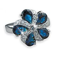Midnight Pinwheel Collection Ring