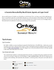 5 Secrets Revealed by Real Estate Agents at Cape Coral - PdfSR.com
