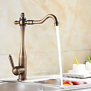 Antique Inspired Kitchen Faucet (Antique Brass Finish) At FaucetsDeal.com