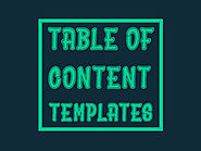 Free Table of Contents Templates