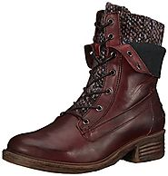 OTBT Women's Carlsbad Combat Boot, New Red