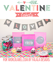 Valentine Labels by Falala Designs | Worldlabel Blog