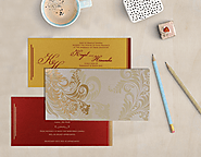 Floral Hindu Wedding Invitations | AIN-8259A | A2zWeddingCards