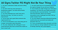 The @DavidGeurin Blog: 10 Signs Twitter PD Might Not Be Your Thing