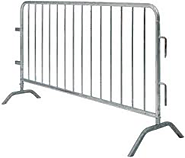 Temporary fence panels and crowd control barriers