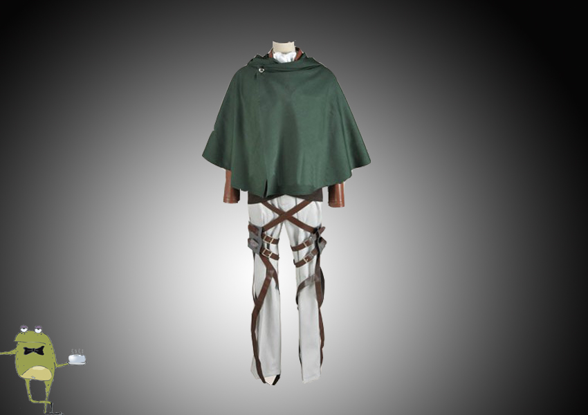 Attack on Titan Rivaille Cosplay Costume Scouting Legion