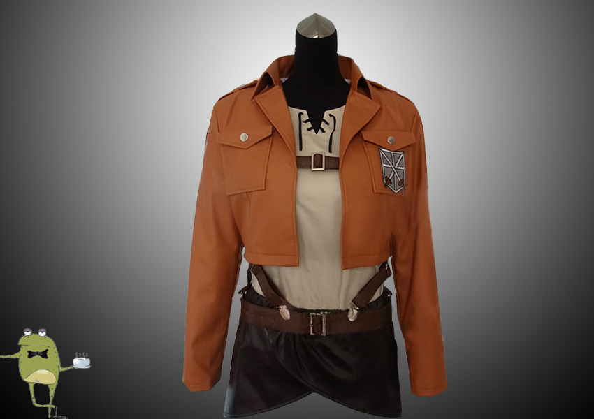 Attack on Titan Cosplay Jacket Eren Jaeger Uniform Trainees Squad