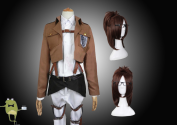 Attack on Titan Hanji Zoe Cosplay Costume + Wig