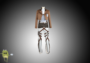 Scouting Legion Captain Levi Rivaille Cosplay Costume