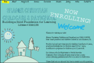 Wix.com ShanerChristianChildcareDaySchool created by hollishaner based on kindergarten | Wix.com