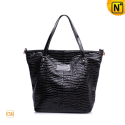 Women Black Leather Tote Bags CW277619 - cwmalls.com